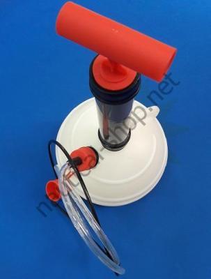Вакуумный насос для замены масла в картере двигателя в сборке со сферической емкостью на 6 л, 16.188.00, Osculati (Италия)
