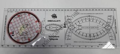 Линейка-транспортир универсальный плоттер, 350 мм, 26.142.85 Osculati