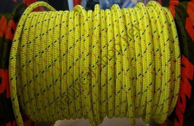Яхтенная веревка DYNEEMA MARLOW Excel Pro 6 мм, ярко желтый, 06.465.06LI, Marlow
