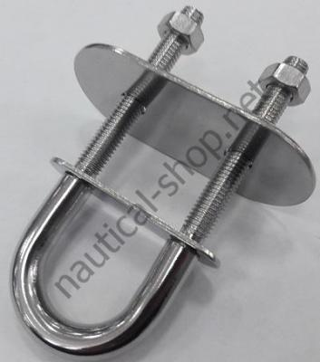 Рым болт нержавеющий М10 105х45 мм (с широкой пластиной), 39.125.02