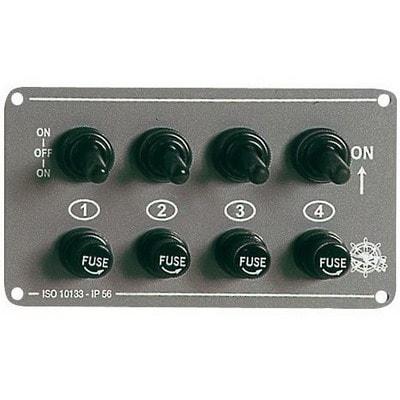 Электрический щиток на 4 тумблера без подсветки, 14.707.00