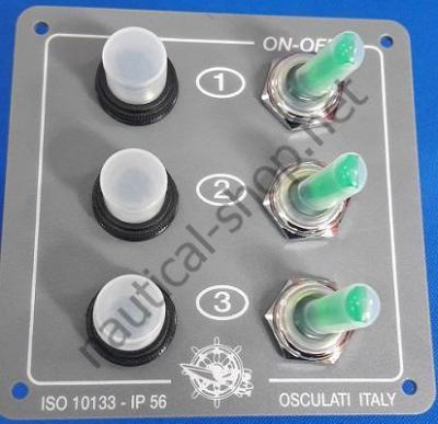 Щиток электрический ELITE с подсветкой на 3 тумблера, 14.800.00