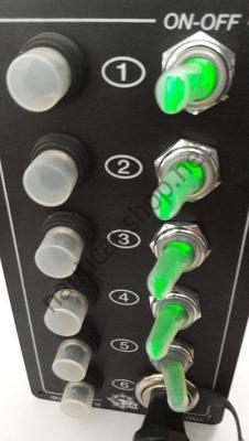 Щиток электрический 12 В ELITE, зеленая подсветка 5 тумблеров, 14.705.00