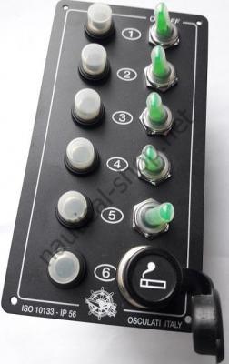 Щиток электрический ELITE с подсветкой на 5 тумблеров с прикуривателем, 14.705.00