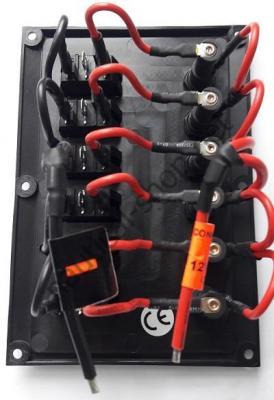 Панель управления 12 В, на 6 клавишных выключателей, контактные соединения, Osculati