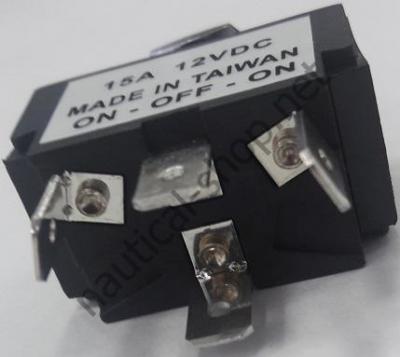 Тумблер с подсветкой трехпозиционный (ВКЛ)-ВЫКЛ-(ВКЛ) с пружинным возвратом, контакты, 14.303.37