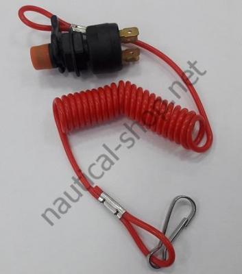 Комплект: стоп-выключатель, чека, шнур, карабин