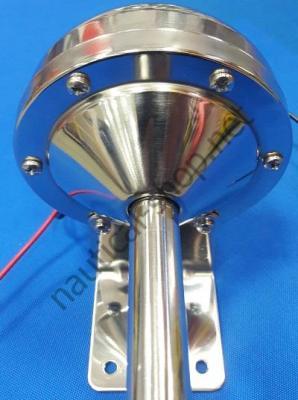Горн из нержавеющей стали с мембраной электрический, труба одинарная, 21.452.03