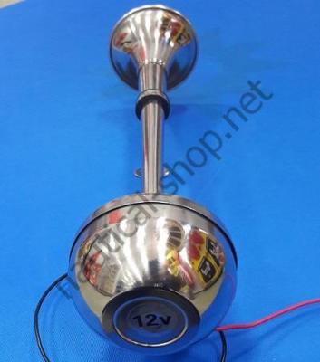 Горн из нержавейки с мембраной электрический, труба одинарная, Osculati 21.452.03