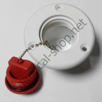 Горловина топливная, пластиковая, 50 мм, под любой тип топлива, крышка на цепочке
