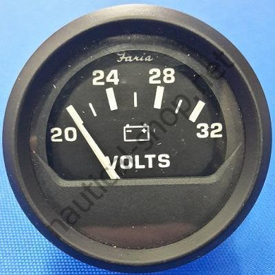 Вольтметр 20-32В Euro Black, 12860