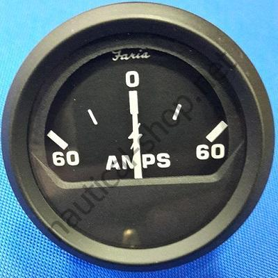 Амперметр 60-0-60 Euro Black, 12822