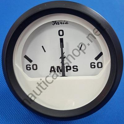 Амперметр 60-0-60 Euro White, 12912