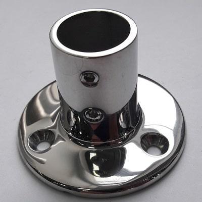 Основание для рейлинга 25 мм круглое крепление, угол 90°, 41.112.25