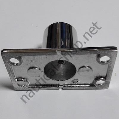 Нержавеющее основание для рейлинга 22 мм прямоугольное крепление, угол 90°, 41.113.22