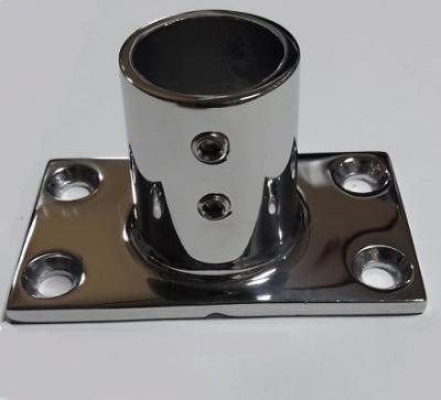 Основание для рейлинга 22 мм прямоугольное крепление, угол 90°, 41.113.22