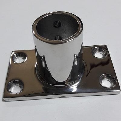 Основание для рейлинга 25 мм прямоугольное крепление, угол 90°, 41.113.25