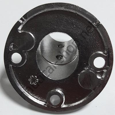 Нержавеющее основание для рейлинга 25 мм круглое крепление, угол 60°, фото основания