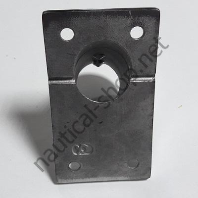 Основание для рейлинга 22 мм прямоугольное крепление, угол 60°, нержавейка, 41.111.22