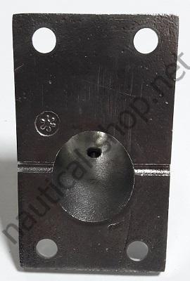 Нержавеющее основание для рейлинга 25 мм прямоугольное крепление, угол 60°, 41.111.25