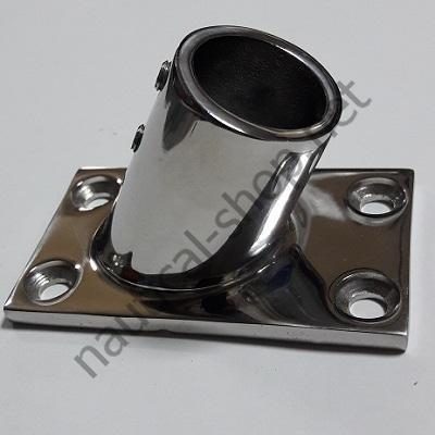 Основание для рейлинга 25 мм прямоугольное крепление, угол 60°, 41.111.25