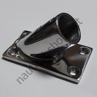 Основание для рейлинга 22 мм прямоугольное крепление, угол 45°, 41.165.00